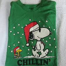 snoopy christmas t shirt 80 peanuts other peanuts snoopy christmas men s green t