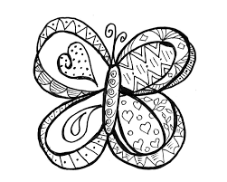 doodle coloring pages butterfly coloringstar