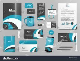 blue luxury branding design kit premium stock vector 413712160