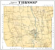 Cayuga County Map Map Of Welcome To The Town Of Throop New York