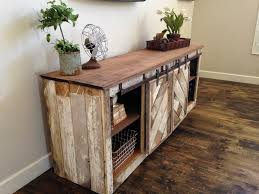 Barn Wood Entertainment Center Rustic Distressed Barn Door Sliding Console Furniture Could Be A