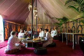 moroccan tents exclusive dining packages