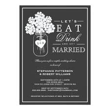 Couple S Shower Eat Drink U0026 Get Married Couples Shower Invitation Zazzle Com