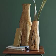 wood log vases log vases west elm