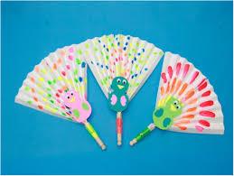 peacock fan paper fan peacock craft allfreeholidaycrafts