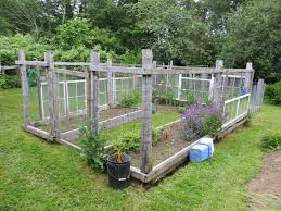 diy enclosed backyard vegetable garden using recycled wood and