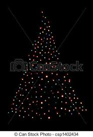 Christmas Tree Shaped With Lights A Christmas Tree Shape Stock