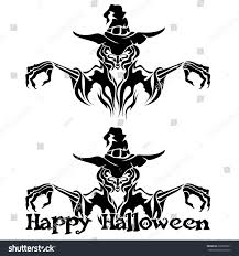 white and black halloween background halloween graphic black witch warlock on stock vector 220902961