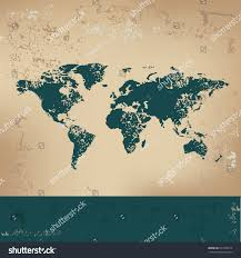 Map Of Thw World by Map World Design On Old Paper Stock Vector 241478914 Shutterstock