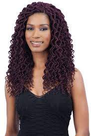 Curly Braiding Hair Extensions by Freetress Braid Pre Looped Crochet 2x Soft Curly Faux Loc 12 Inch