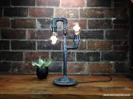Wohnzimmerlampe Bauen Industrie Stil Lampe Aus Baustahl Und Glühbirne Lampen