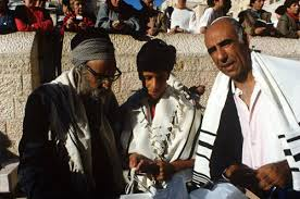 bar mitzvah in israel jerusalem sephardic bar mitzvah the rabbi with the boy and his