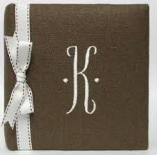 Monogrammed Photo Albums Photo Albums The Monogram Merchant