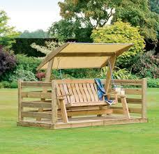 backyard garden swing bench wood furniture