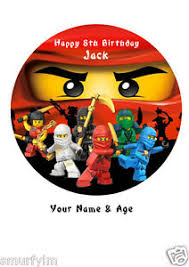 ninjago cake toppers ninjago cake topper party personalised rice paper 7 5 img 4 ebay