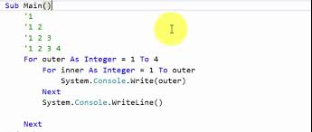 visual basic for loop visual basic nested loops example 3 youtube