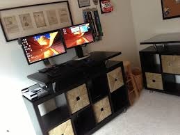 modern standing desk make your computer addict more comfortable and challenging with