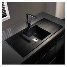 double drainer kitchen sink abode zero 1 0 bowl double drainer granite sink sinks taps com
