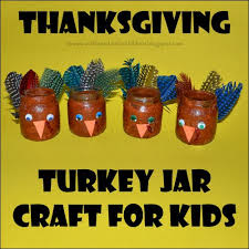 recycled baby food jar turkey craft for