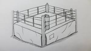 how to draw a boxing ring youtube
