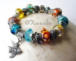 bracelet beads pandora style images Tropical island ocean themed european large hole charm bracelet jpg