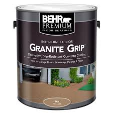 home depot interior paint color chart behr 1 gal 65501 tan granite grip interior exterior concrete