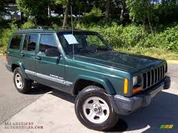 jeep cherokee green 1999 jeep cherokee sport 4x4 in forest green pearl photo 2