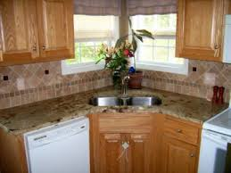Kitchen Backsplash Accent Tile Tumbled Marble Backsplash With Multicolored Glass Accent