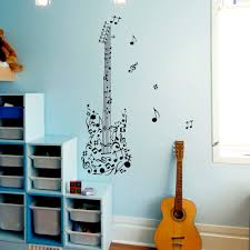 guitar wall decal notes treble music musical instrument design guitar wall decal notes treble music musical instrument design wall decals rehearsal room bedroom garage window