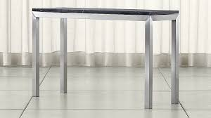 Crate And Barrel Bar Stool Parsons Black Marble Top Stainless Steel Base 48x16 Console