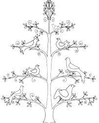 coloriage d u0027un arbre de vie aux 7 colombes tête à modeler
