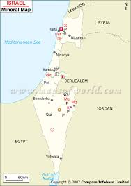 Map Of Israel And Palestine Israel Mineral Map Natural Resources Of Israel