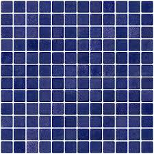 1 inch cobalt blue textured anti slip glass tile loversiq