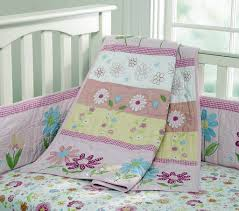 bedroom country style baby bedding set with golden polka dot
