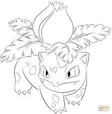 ivysaur coloring page free printable coloring pages