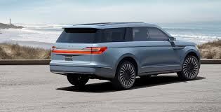 lincoln navigator back 2018 lincoln navigator previewed with dramatic gull winged concept