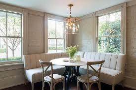 l shaped dining table l shaped upholstered dining banquette transitional dining room l