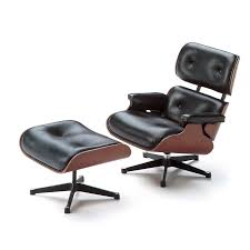 Lounge Chair Ottoman Furniture Vitra Miniature 5 5 Inch Eames Lounge Chair And Ottoman