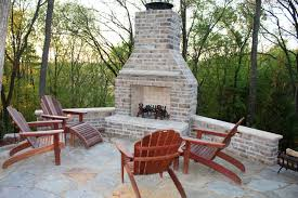 chic outdoor patios with fireplaces for interior home inspiration