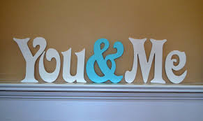 Home Decor Initials Letters You U0026 Me Custom Painted Wooden Wedding Letters Home Decor