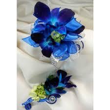 blue corsages for prom blue bom prom set council bluffs ia omaha ne florist glenwood