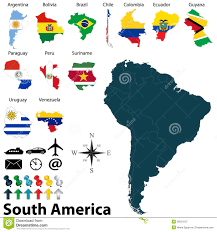 South Central America Map by Flags Central America Countries Stock Photos Images U0026 Pictures