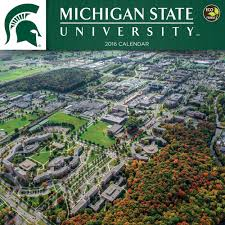 Michigan State University Campus Map by 2016 Michigan State University Wall Calendar Michigan State