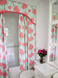 girly bathroom ideas bahtroom impressive curtain motive for low bathtub beside closet