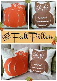 easy fall pillow fall pillows dollar stores and felting