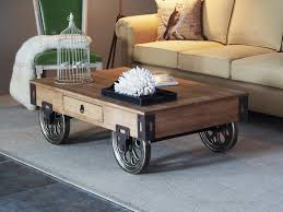 Rustic Coffee Table On Wheels Coffee Tables With Wheels Gorgeous Rustic Coffee Table With Wheels