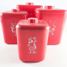 pink canisters kitchen shop flour sugar canister set on wanelo