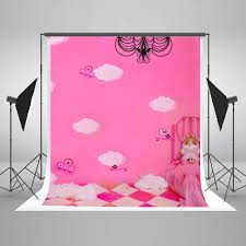 online get cheap barbie photo aliexpress com alibaba group children photography background barbie baby bag photo booth backdrops pink wall white clouds background for photography