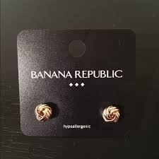 Earrings Banana Republic 83 Off Banana Republic Jewelry Banana Republic Gold Knot