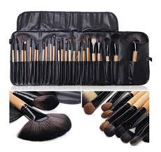 24pcs professional set brush cosmetic kit case black for bobbi